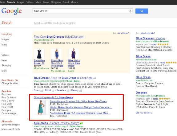 google merchant center search